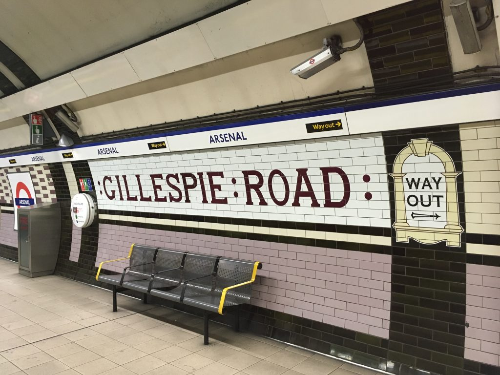 Gillespie road station tiles